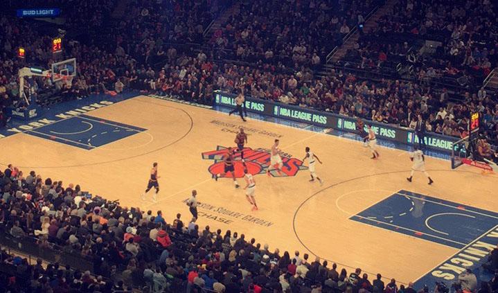 Madison Square Garden Cleveland vs New York