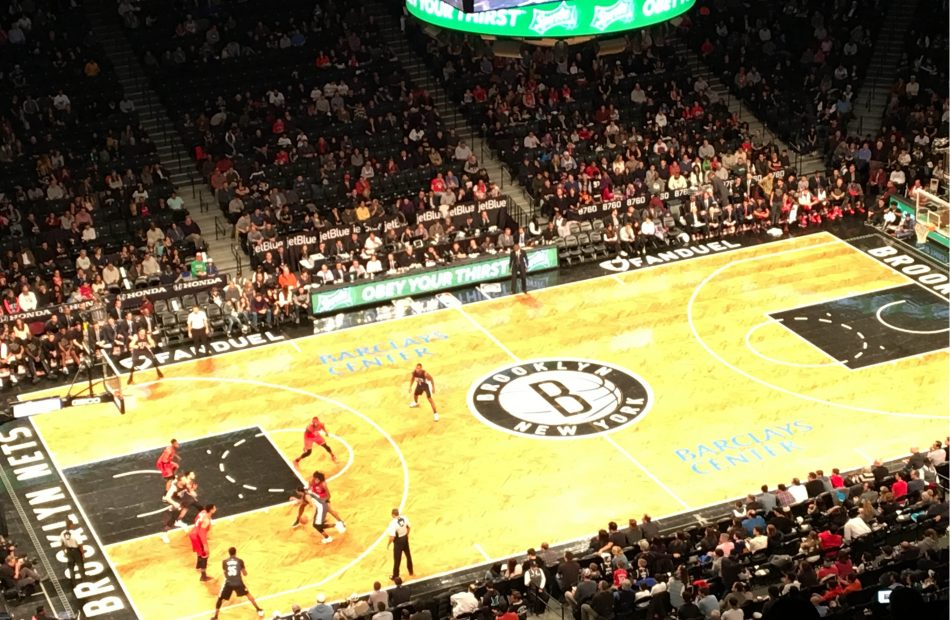 Brooklyn Nets vs Toronto Raptors at the Barclays Center