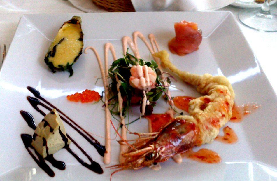 Hilary's dinner - shrimp!
