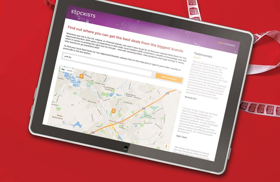 Real Deals - Stockist Map