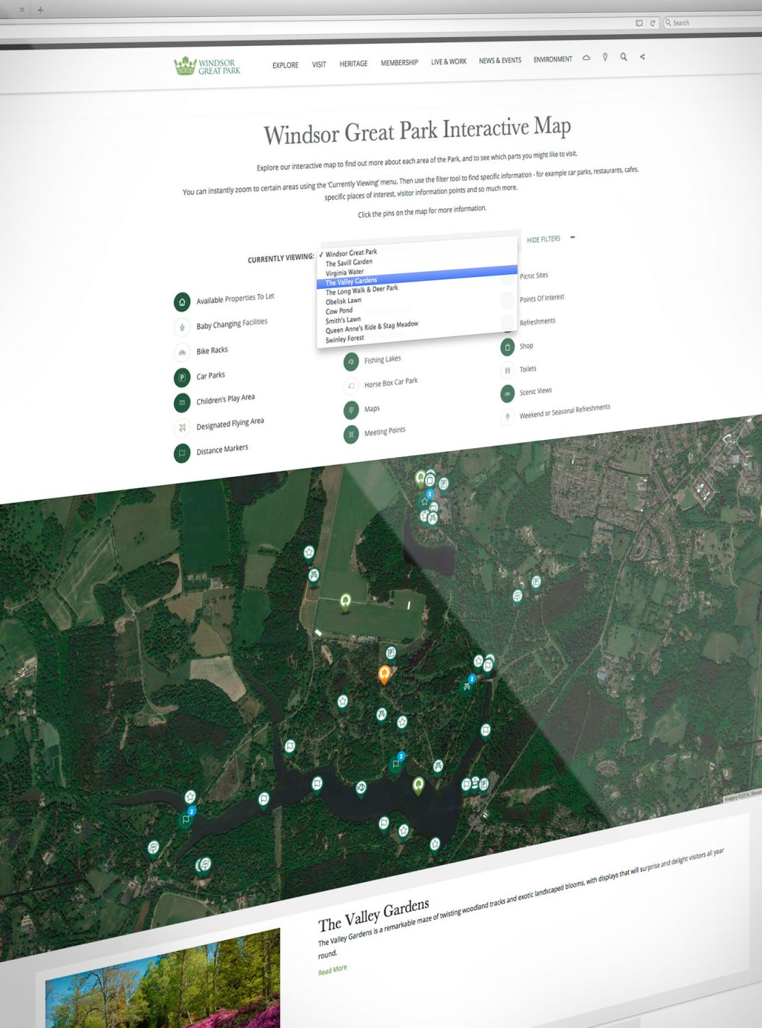 Windsor Great Park Interactive Map