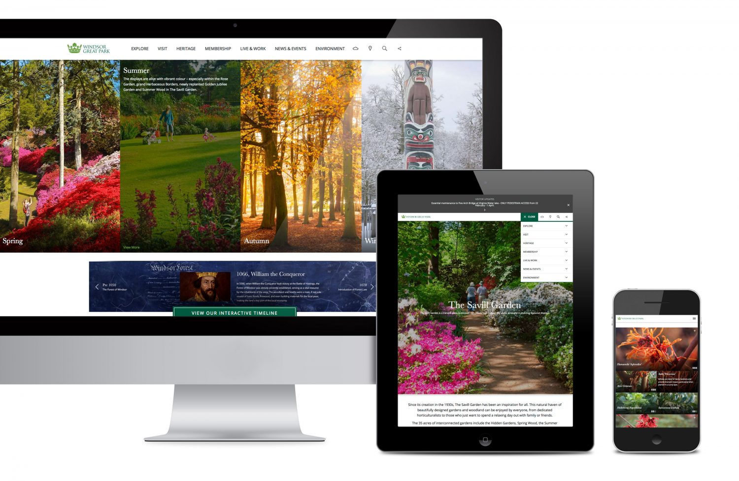 Windsor Great Park Website Design and Development