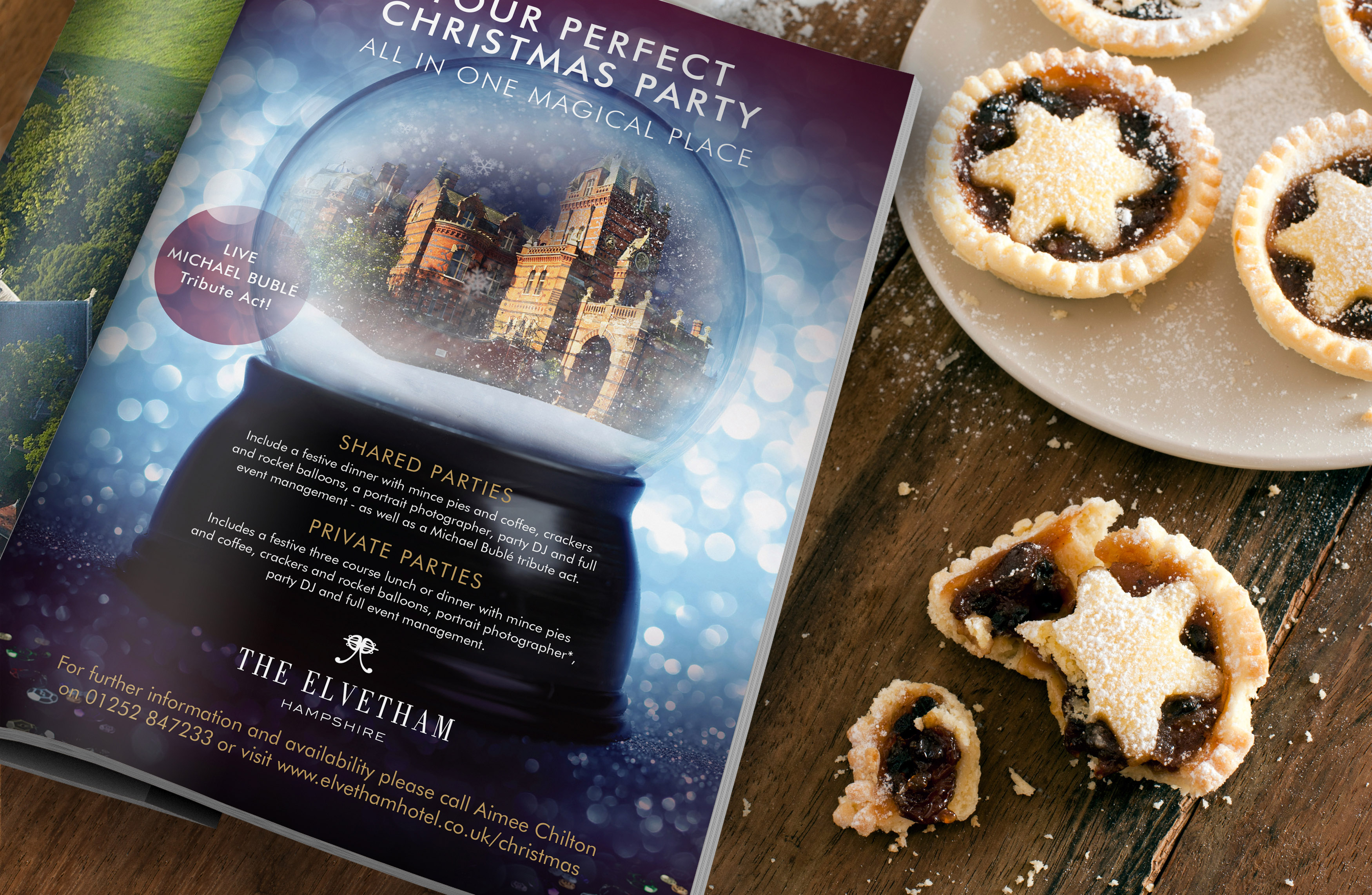 The Elvetham's Seasonal Promotion flyer