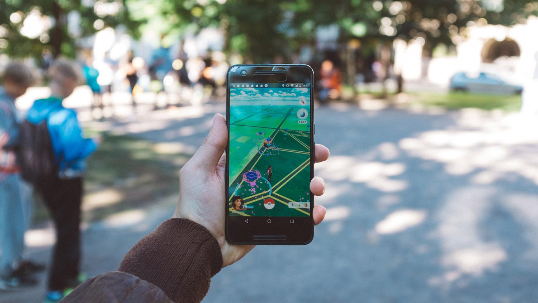 A photograph of the Pokemon Go App