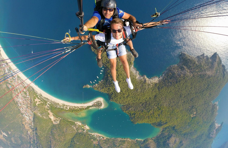 Matt parasailing in Turkey