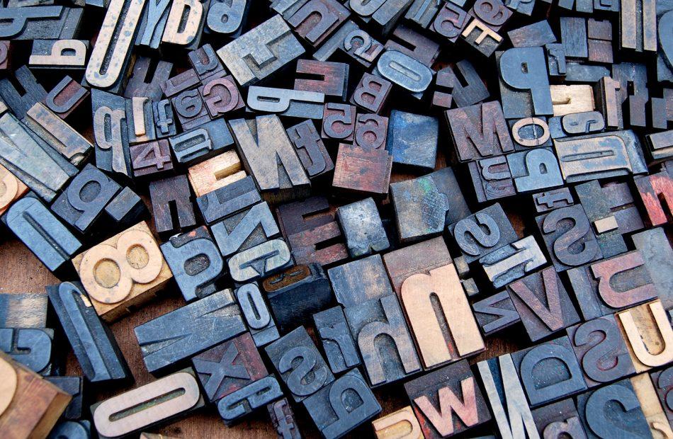 Typography letter prints