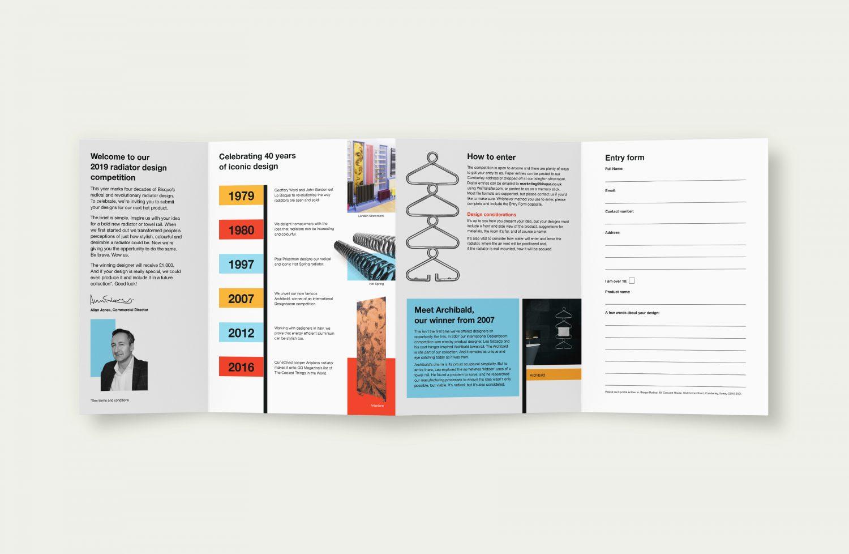 Bisque Radical 40 case study - Inside design booklet