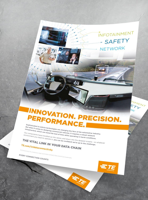 TE Connectivity Case Study - A4 Advert