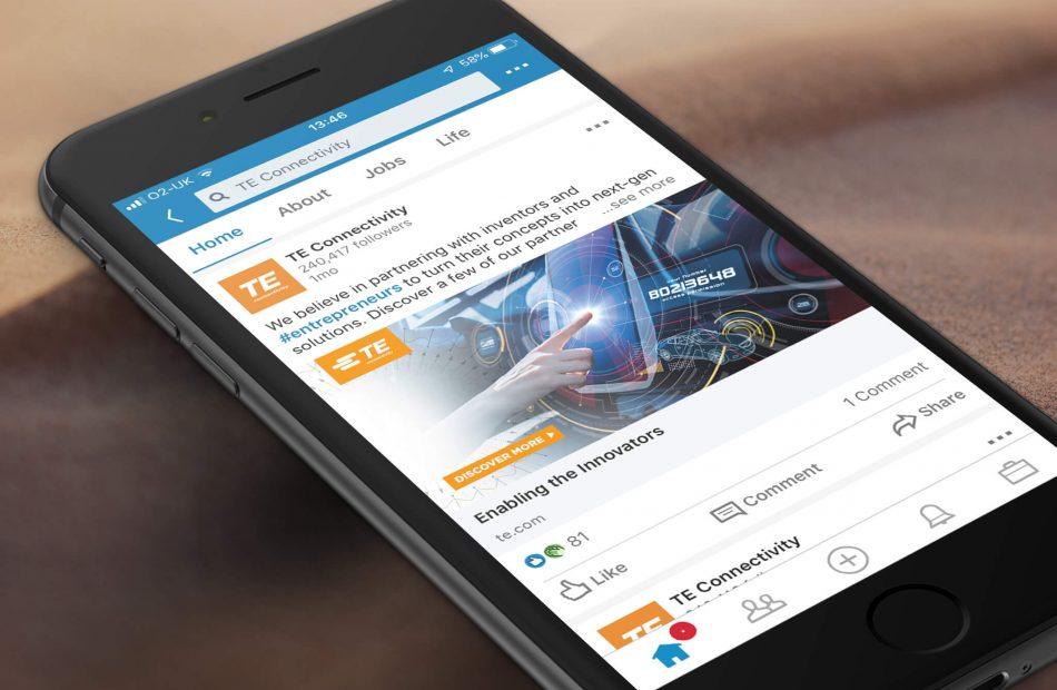 TE Connectivity Case Study - Social Media Post