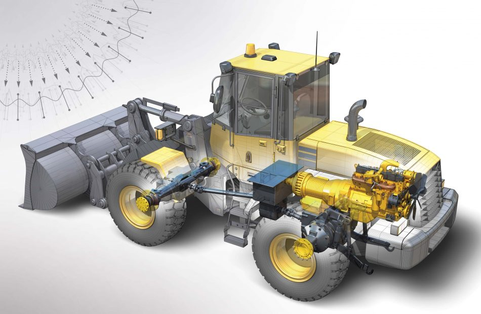 TE Connectivity 3D graphic of digger