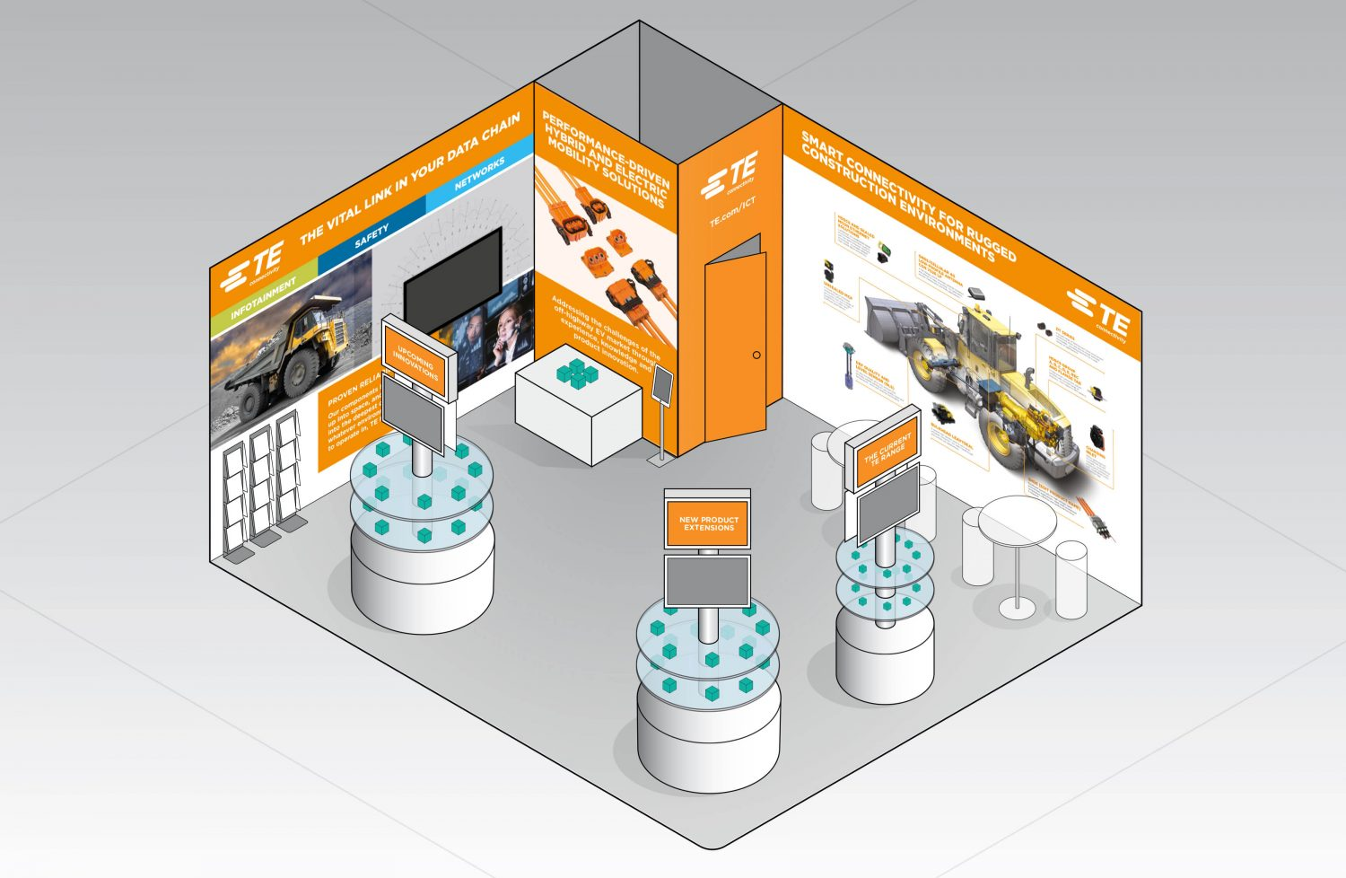 TE Connectivity Case Study - Stand Visuals 3D