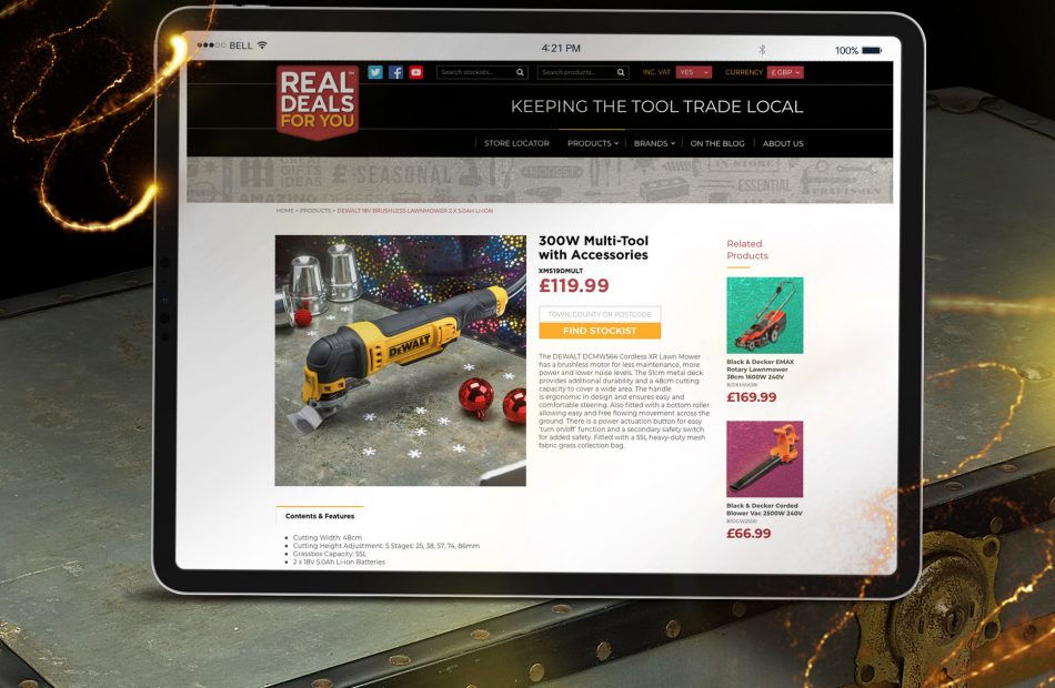 Toolbank seasonal campaign case study - website view on ipad