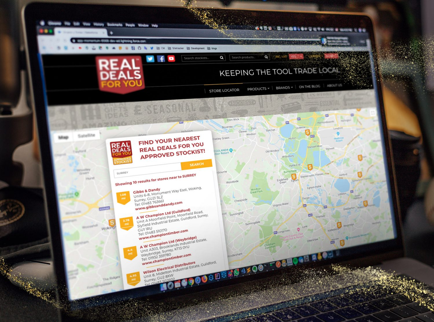 Toolbank seasonal campaign case study - stockist map