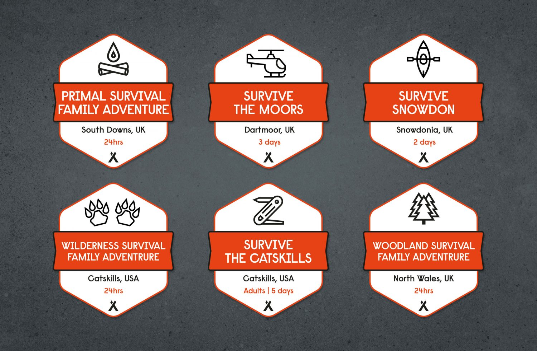 Bear Grylls Survival Academy - Case Study location badges