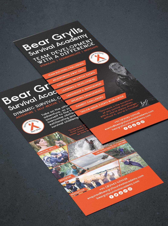 Bear Grylls Survival Academy case study - flyer