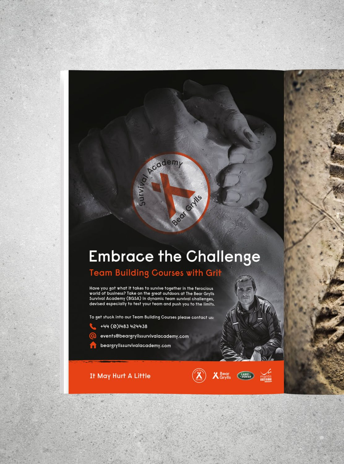 Bear Grylls Embrace the challenge poster case study