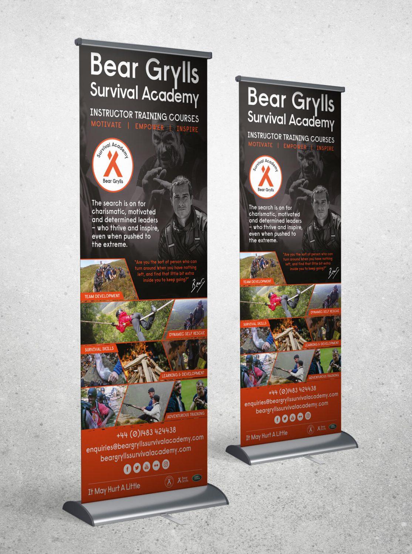 Bear Grylls Survival Academy case study - Roll up banner