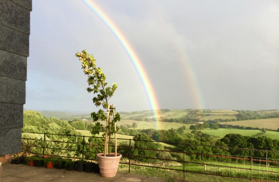 A rainbow on a lovely day