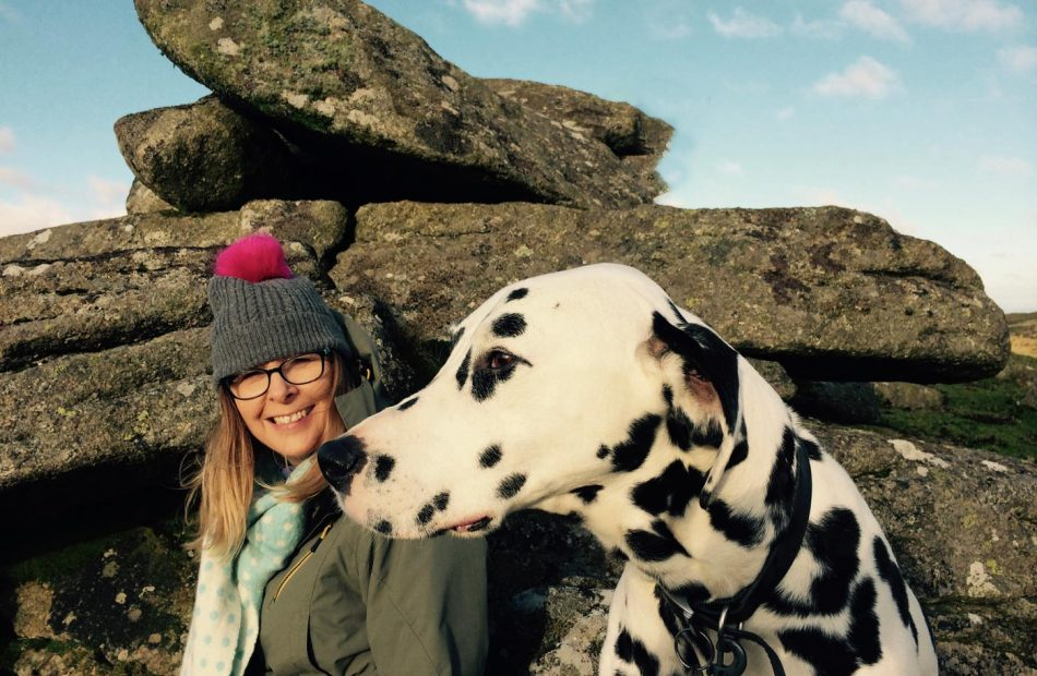 Rachael Dennis, senior designer and her pet dog